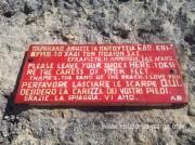 Просьа к посетителям перед входом на пляж Пессады