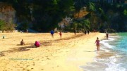 Кефалония зимой; пляж Платис Ялос
