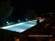 Bungalow Kefalonia, Pessada: 1 bedroom bungalow with shared swimming pool. Kefalonia villas. Greece vacations.