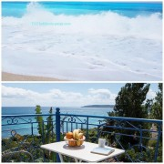 Kefalonia hotels: beach apartments by Lourdas beach. Greece vacations.
