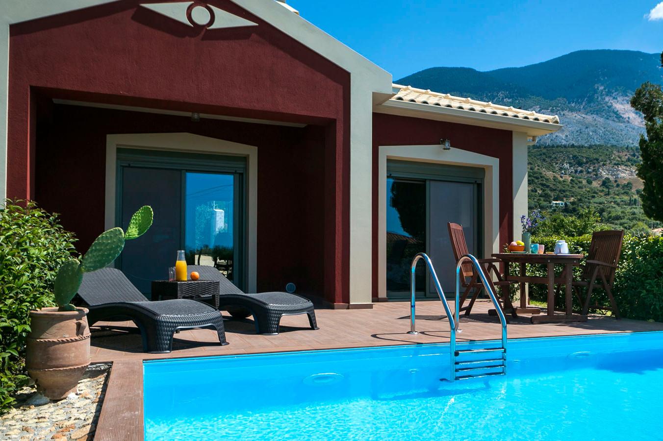 Kefalonia villas with pool: 2 bedroom villa with pool
