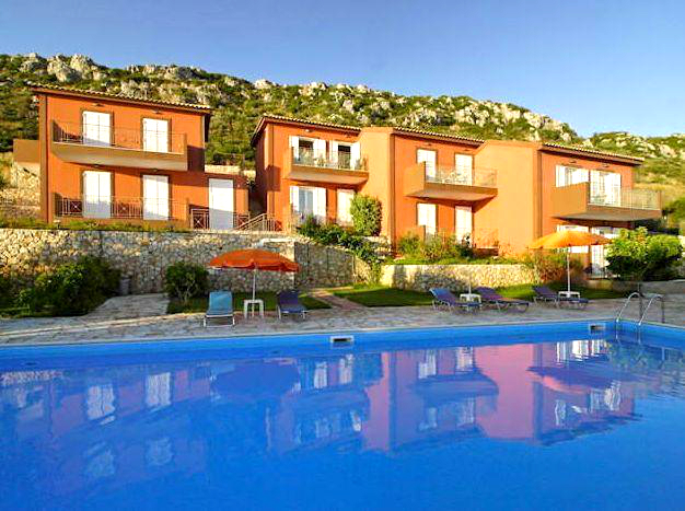 Kefalonia villas with pool: 2 bedroom villas with shared swimming pool