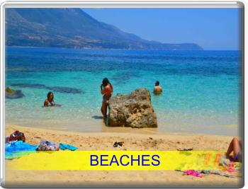 Discover Kefalonia: amazing Myrtos beach, Petani beach, Lourdas, Antisamos, St Thomas or Agios Thomas beach, Skala, Foki and other beautiful Kefalonia beaches. Ionian islands.