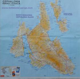 Kefalonia - road map