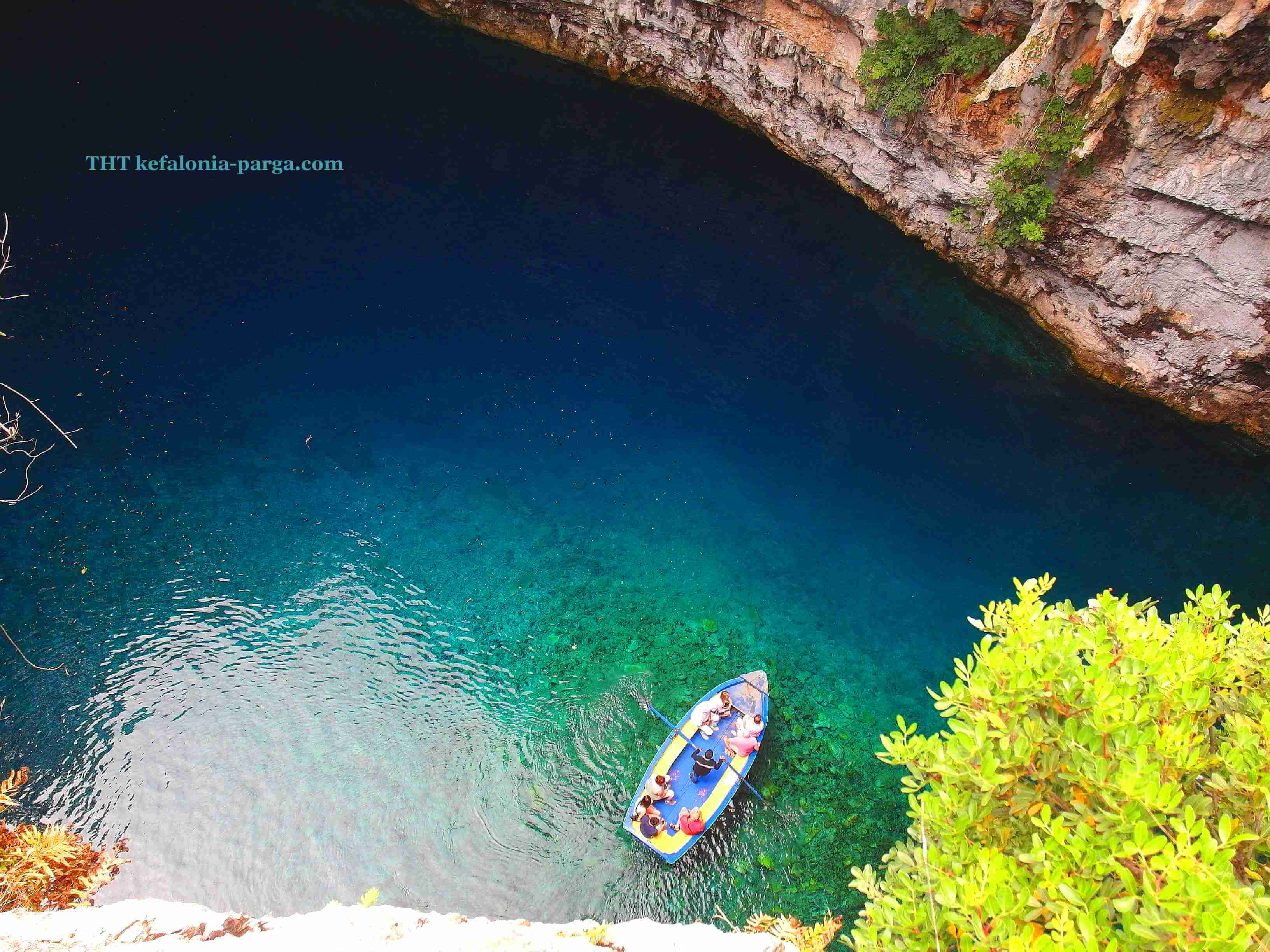 Kefalonia travel guide: unique Melissani cave. Greece travel.