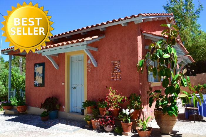 Kefalonia hotels: 2 bedroom bungalow Kefalonia, 30 m from Spartia beach. Greece vacations.