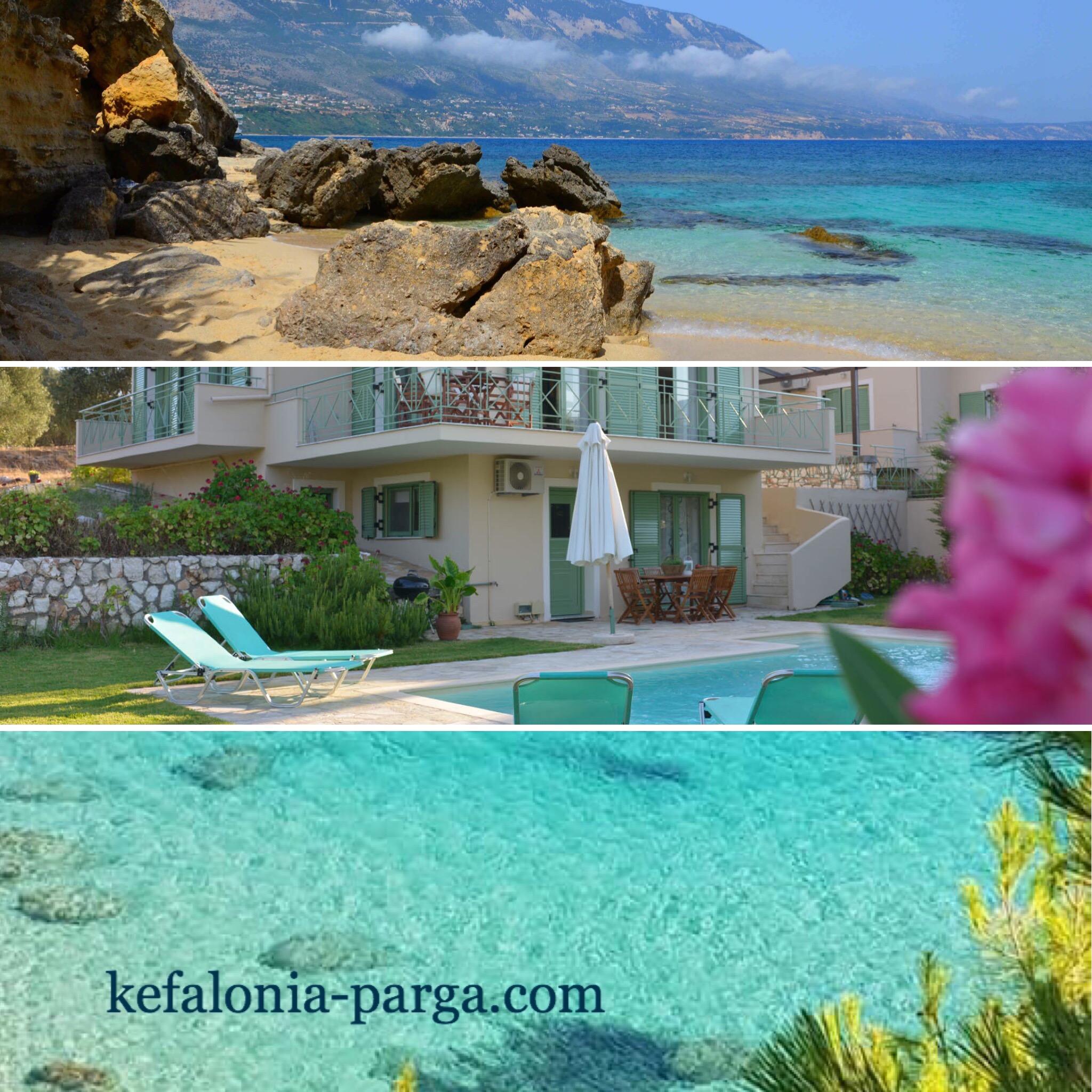 Kefalonia villas with pool: amazing 3 bedroom villa near picturesque Agios Thomas beach