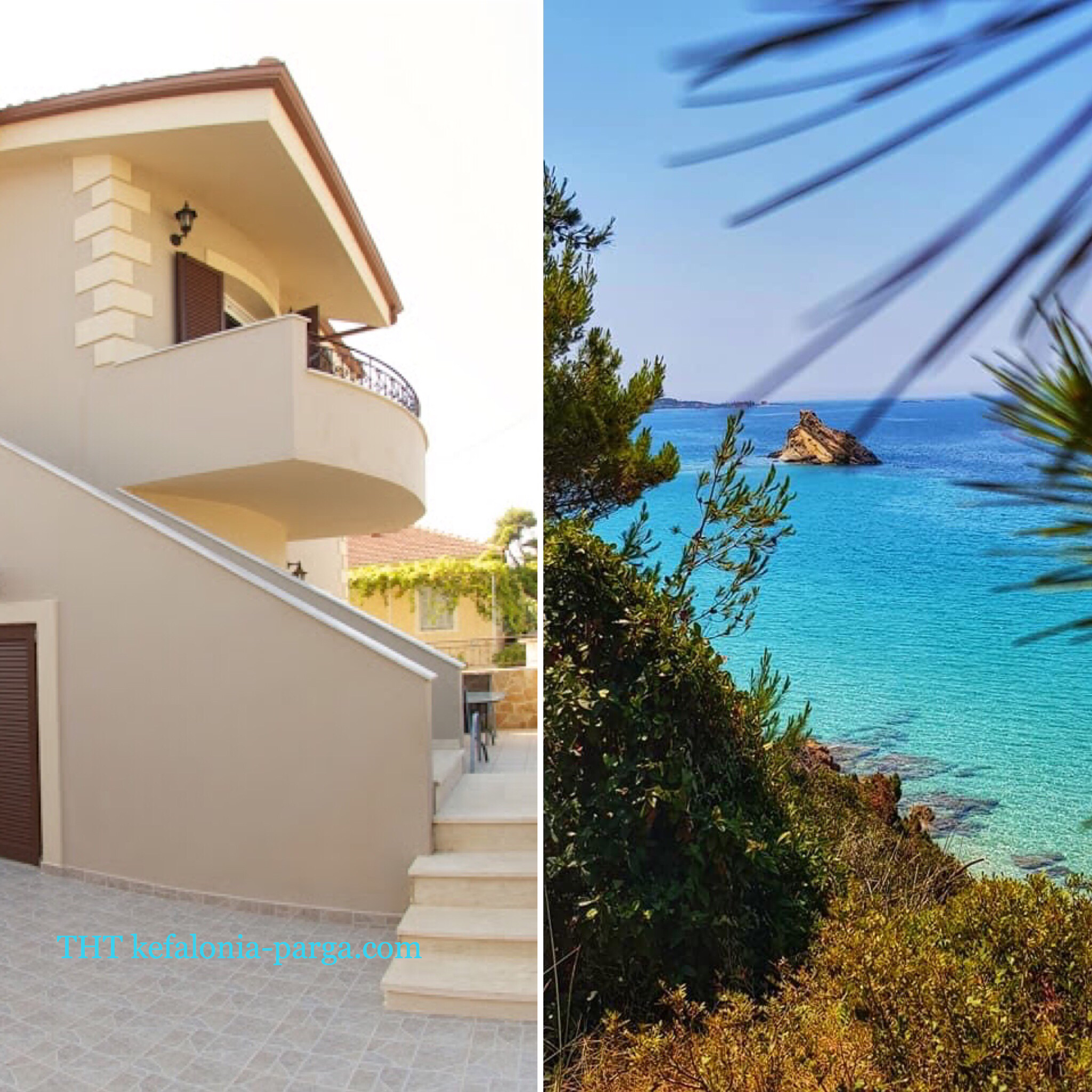 Kefalonia holiday 2020: spacious 2 bedroom apartments by Makris Gyalos beach, Lassi. Greece vacations.