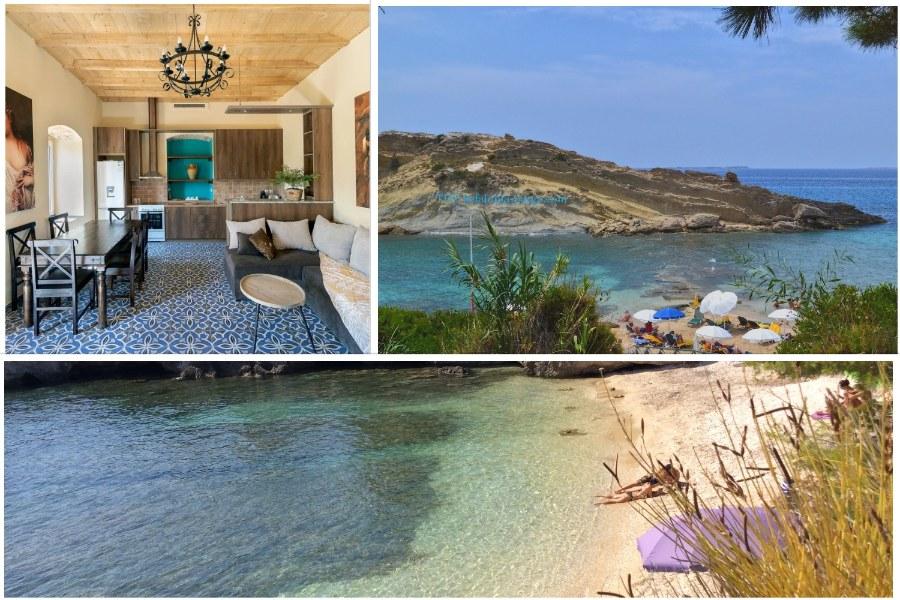 Кефалония виллы с бассейном: уютная вилла с 3 спальнями возле Ласси - прекрасный дом для семейного отпуска.