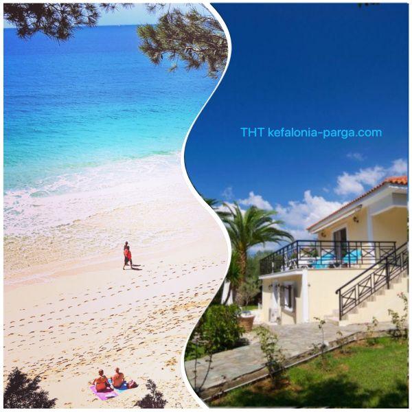 Кефалония апартаменты: просторные апартаменты с 2 спальнями у пляжа Макрис Гиялос, Ласси. Отели Кефалонии
