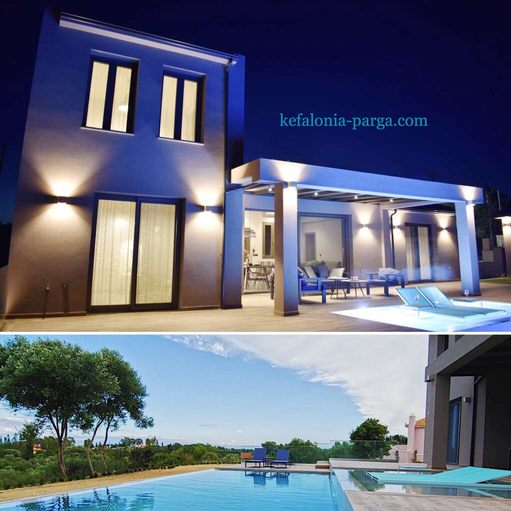 Kefalonia villas: chic 3 bedroom villa with infinity swimming pool, Kefalonia, Greece. Kefalonia hotels.